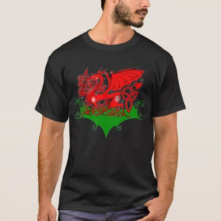 Welsh Dragon with Celtic Knotwork T-Shirt - tap to personalize and get yours