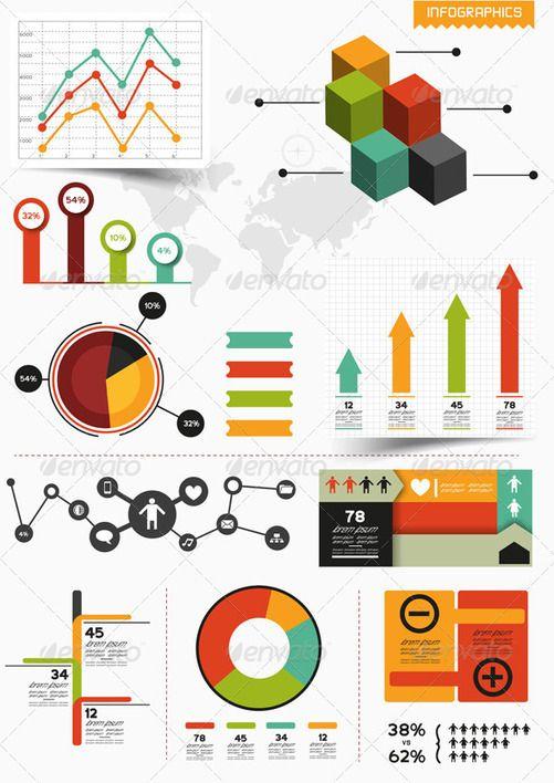 Dazzling Infographics Design Elements: Vector Resources