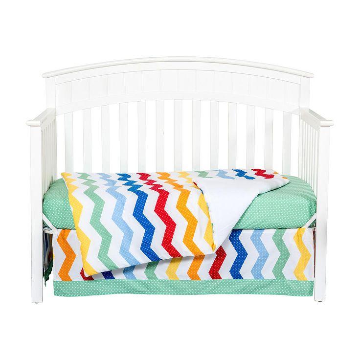 Trend Lab Happy Chevron 3 Piece Crib Bedding Set Trend Lab Babies R