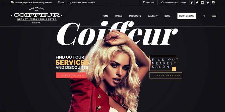 WordPress шаблон для сайта салона красоты — Coiffeur