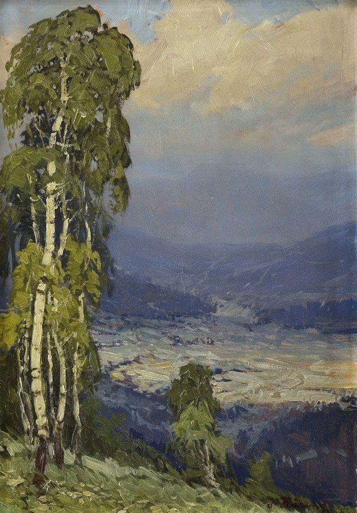 Aukčná spoločnosť SOGA spol. s r.o. - Diela/Osamelá breza - aukcie, diela, výtvarné diela, umenie, obrazy, starožitnosti, online aukcie, umelci