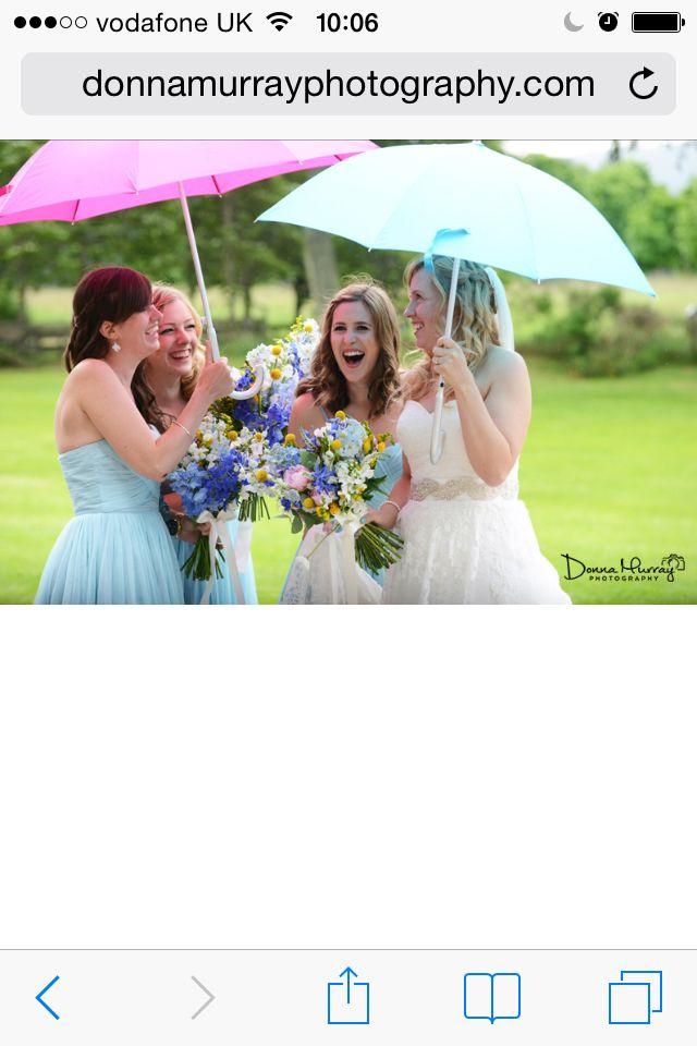 Coos cathedral aboyne; wet weddings; umbrellas; barn wedding Scotland; Donna Murray photography