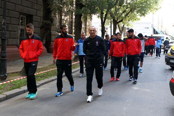 Trabzonspor Lviv'de yürüyüş yaptı