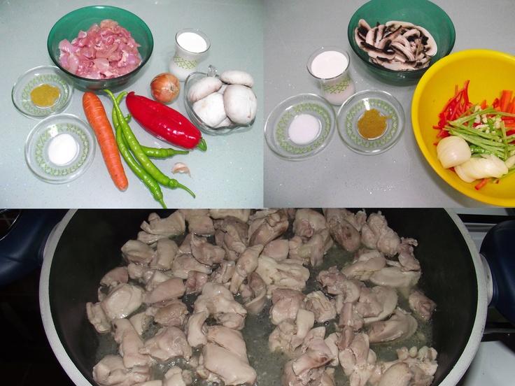 köri soslu kremalı mantarlı tavuk malzemeler