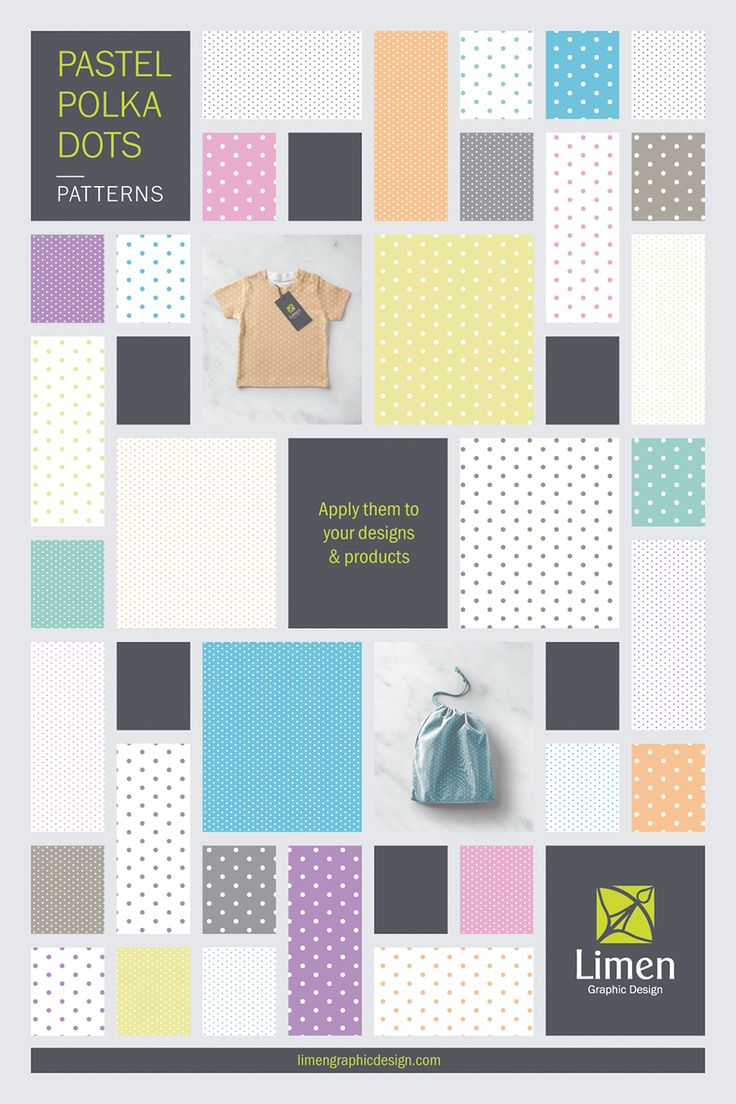 Design amazing products with my pattern collection of pastel color polka dots. Click it to visit my shop and get all the info. :)