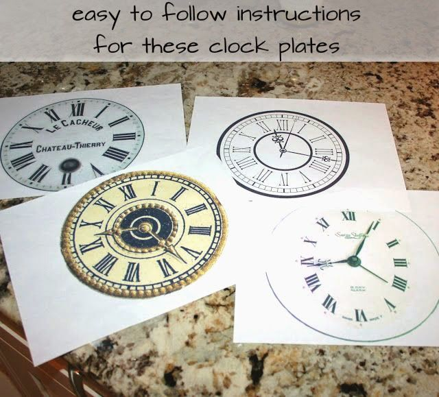 easy to follow instructions for these New Year's Eve Clock Plates