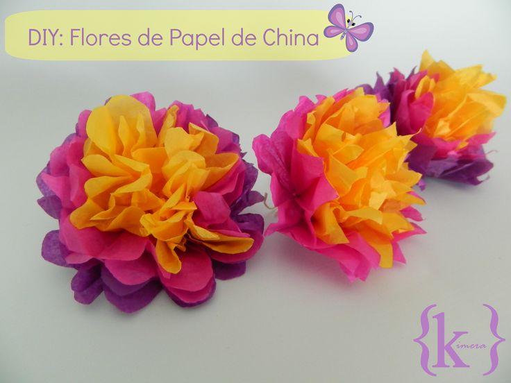Flores de Papel de China