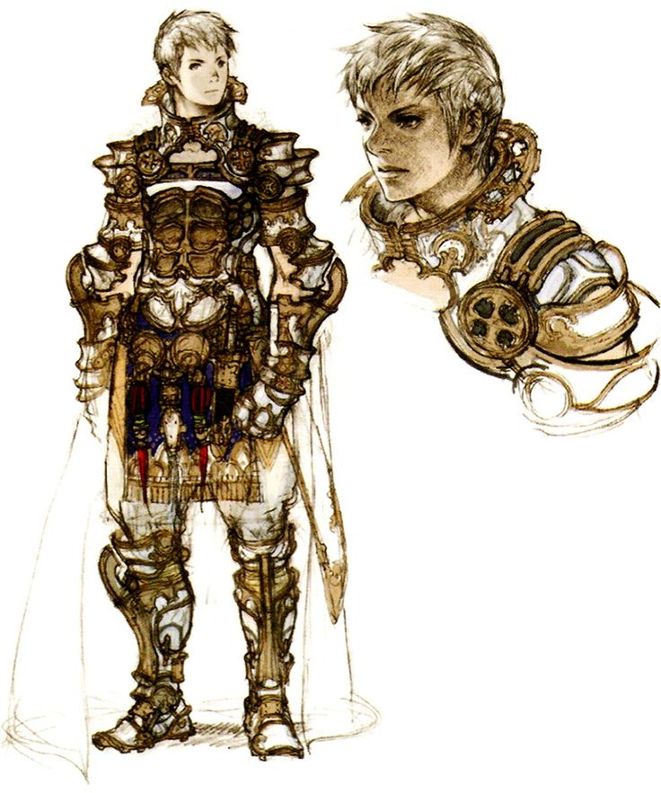 Week 12 - Final Fantasy XII - Concept Art Mon - Prince Rasler Concept