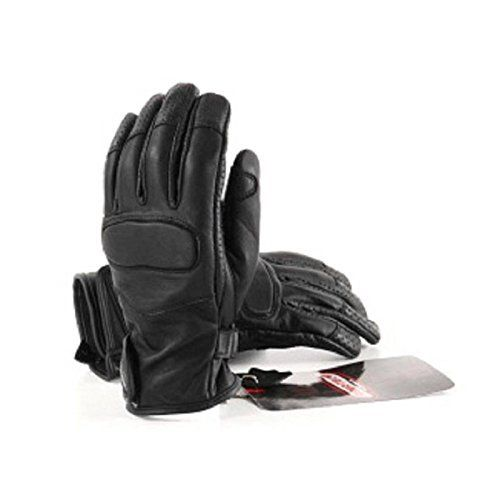 RIDER-TEC Gants Moto Cuir Homologué, Noir: RIDER-TEC Gants Moto City de coloris noir, EPI 2eme catégorie niveau 1 homologué EN13594 en…