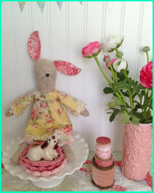 """Miss Maggie made from Alicia of """"Posies Gets Cosy"""" pattern..bloomers made out of a glove and ends crocheted!"""
