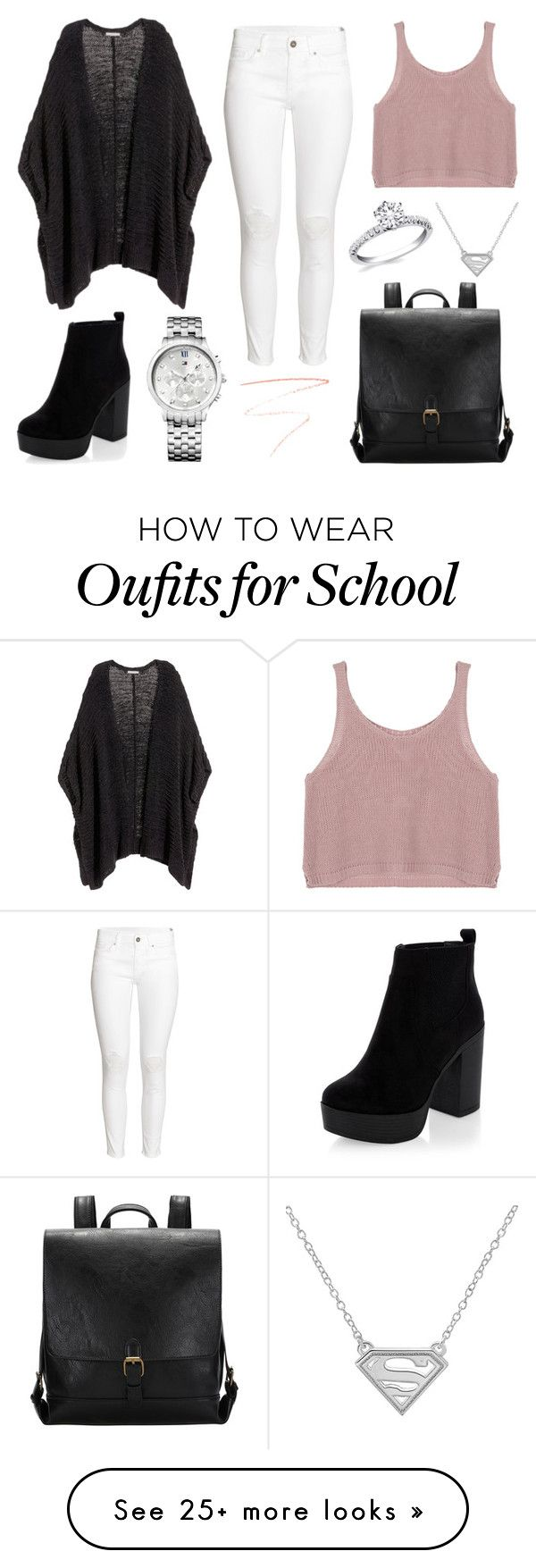 School Day by susanna-trad on Polyvore featuring HM, Tommy Hilfiger and Charlotte Tilbury