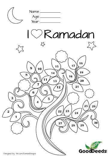 Displaying Ramadan fasting chart for children kids.jpg...I may need this myself.