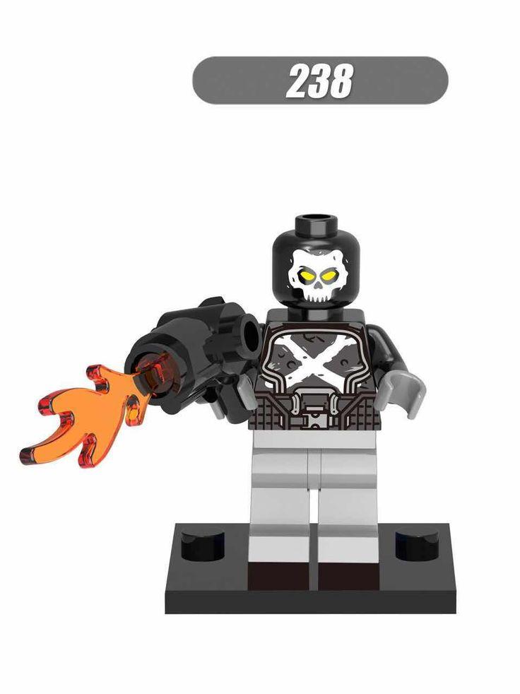 20Pcs Super Heroes Crossbones Brock Rumlow Scarlet Witch Baron Zemo Black Widow Bricks Building Blocks Children Gift Toys XH 238 #Affiliate