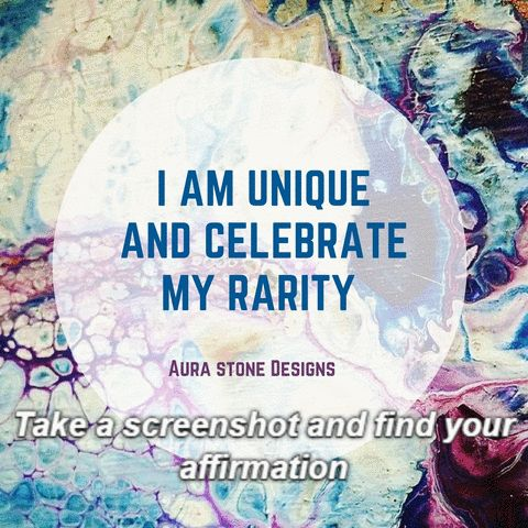 Take a screen shot and find your own personal affirmation from www.aurastonedesigns.com