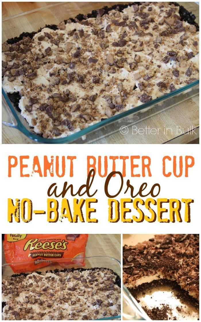 Peanut Butter Cup and Oreo No-Bake Dessert by Food Fun Family