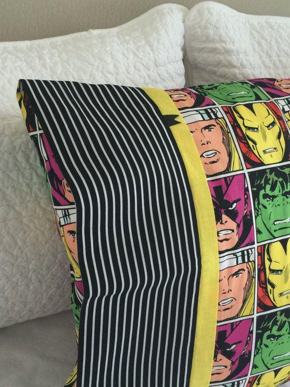Marvel Avengers Pillowcase / Pillowslip by kuronekoetsy on Etsy