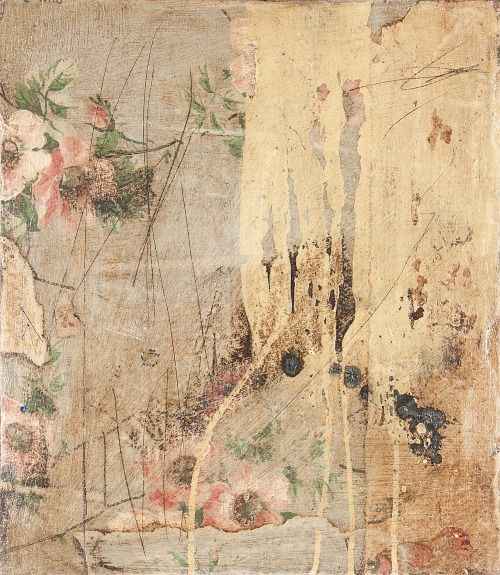 ngaiolenz: (35.0 x 45.0 cm) Memoirs of a room series Decollage, vintage wallpape...