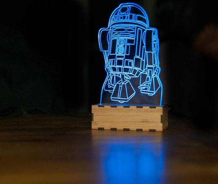 R2-D2 Star wars Lamp, R2D2 night light, R2D2 desk lamp, Star wars desk accessories, star wars baby, astromech droid, star wars desk lamp by lampUp on Etsy https://www.etsy.com/listing/233137842/r2-d2-star-wars-lamp-r2d2-night-light