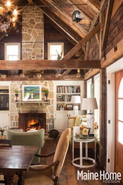 this house! New England Farmhouse Maine Home + Design Magazine