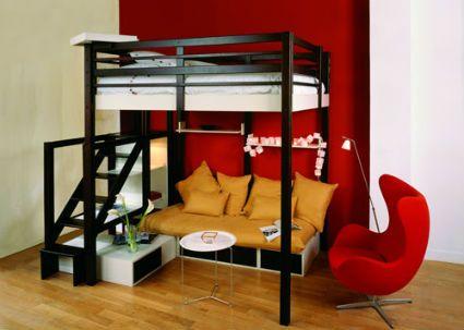 M s de 1000 ideas sobre camas altas en pinterest - Camas juveniles altas ...