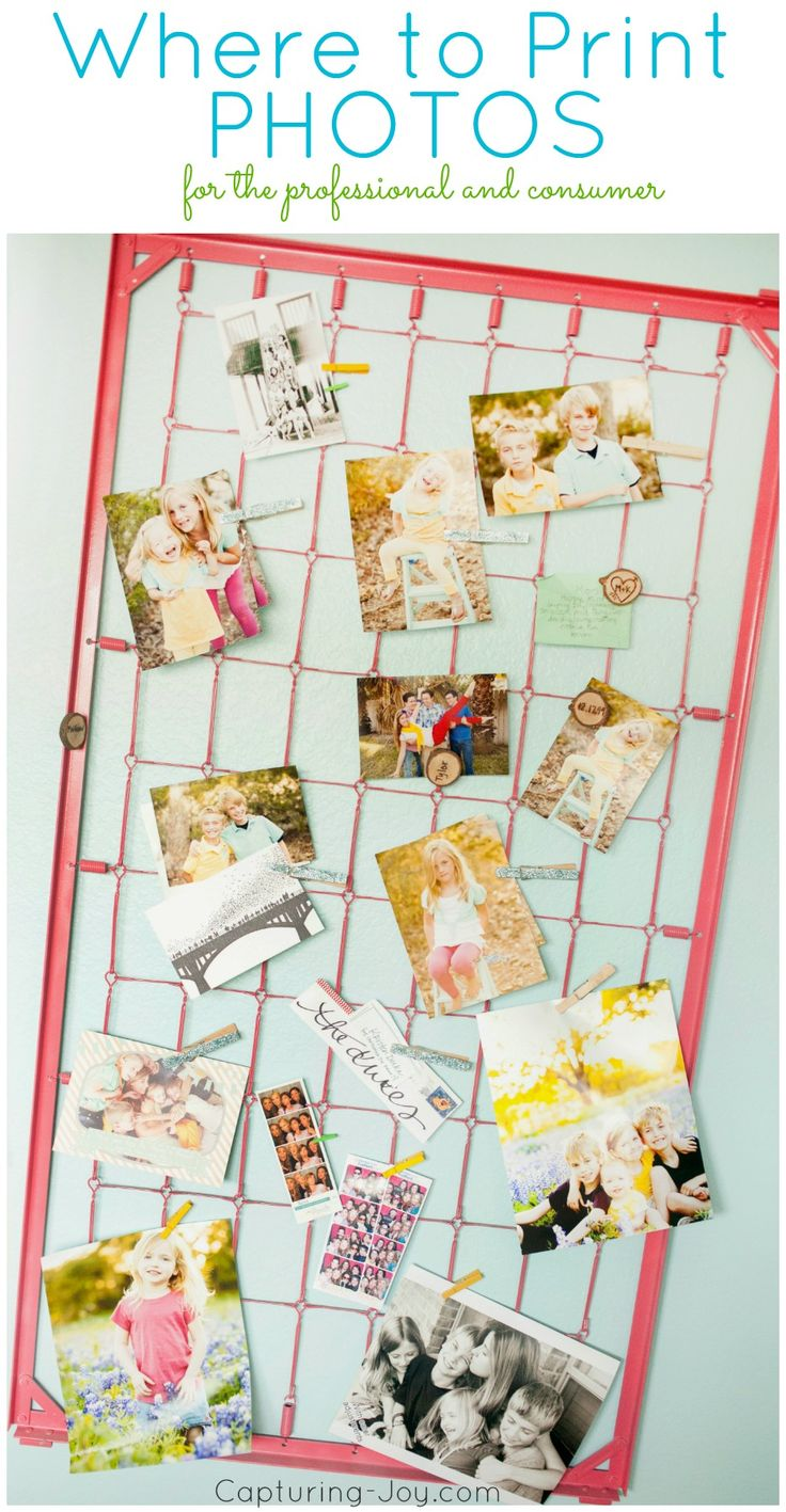 Where to print photos for the professional and consumer (mom's!) as well as albums and books!  A must pin!