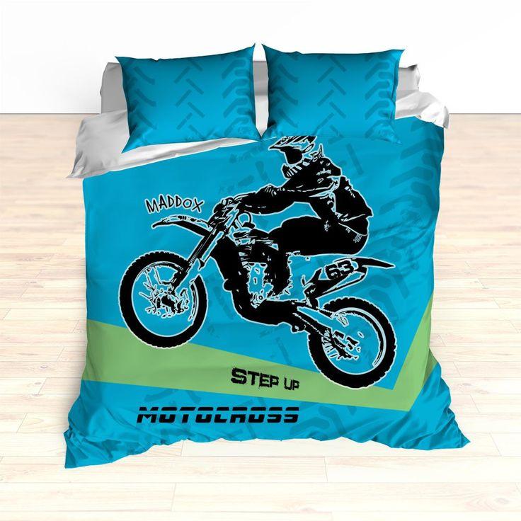 Motocross Bedding Personalized, Comforter or Duvet, Motocross Bedding, – 2cooldesigns