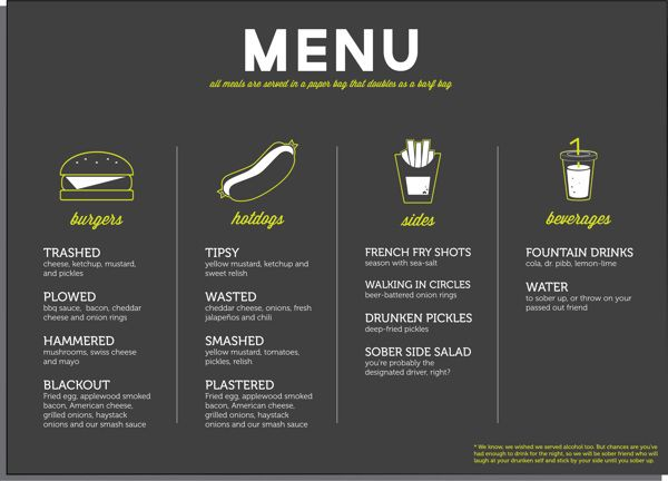 Food Truck Menu  Design  Restaurant Branding    Food
