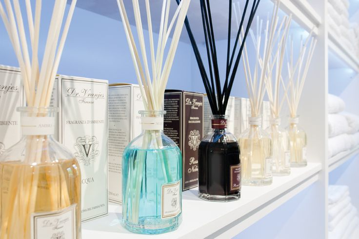 Dr Vranjes diffusers keep the showroom smelling amazing.