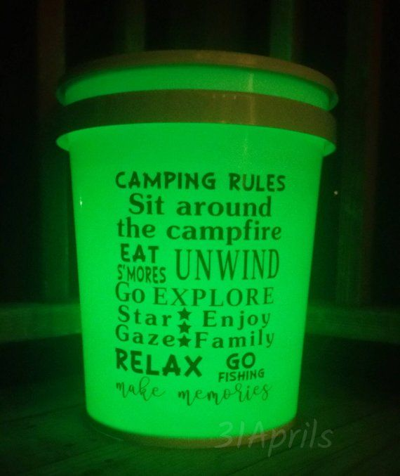 Light Up Camp Bucket Night Light Camping Bucket Multi