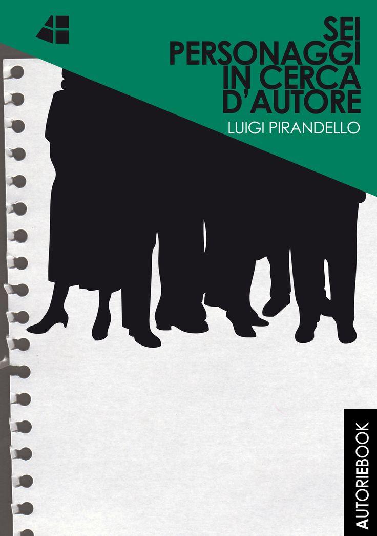 """""""Sei personaggi in cerca d'autore""""  di Luigi Pirandello Testo fondamentale del teatro italiano del Novecento, Sei personaggi in cerca d'autore è un'opera che offre diversi livelli di lettura: il contrasto tra identità e apparenza, tra realtà e finzione, propone non solo una riflessione sul teatro, sulla rappresentazione e sul ruolo dell'artista,  ma anche un'indagine sull'individuo e sulla società. Copyright © AUTORI EBOOK Cover by Marta Cassieri"""