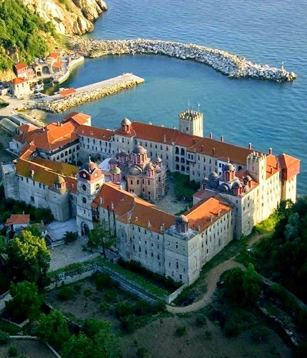 Holy Monastery of Esfigmenou, Mount Athos, Greece