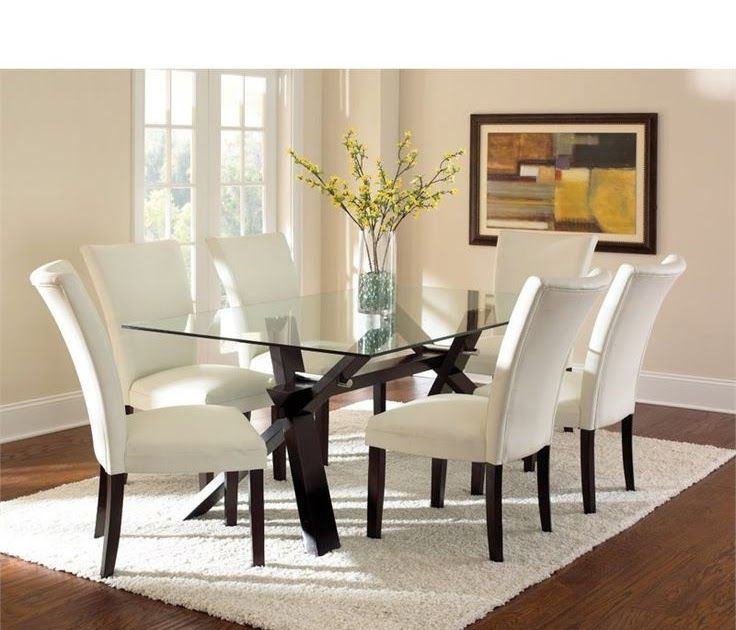 Best 25 Glass Top Dining Table Ideas On Pinterest Contemporary Dinning Table Glass Dinning Here We Have Nice Picture About Gla Furniture Meja Makan Modern