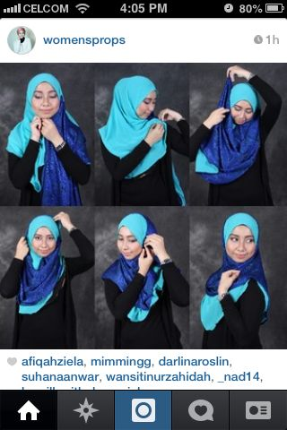 Tutorial by Womensprops. Simple and Easy Hijab Tutorial. @Linda Busche Roslin :)