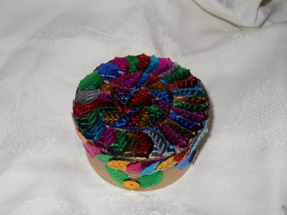 Beautiful hand decorated mini hat box 3 by CelestialStudio13, $10.39