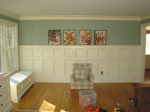 72 best walls board and batten wainscoting images on for Dining room wainscoting ideas
