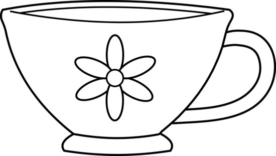 coloring pages cups  cute teacup coloring page  free