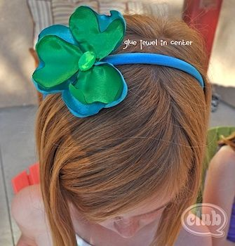 shamrock headband tutorial; found at Club Chica Circle: Libraries Ideas, Crafts For Kids, Crafty Stuff, Patty Ideas, Crafts St., Kids Crafts, Crafts Kids, Kids St., Patty Crafts