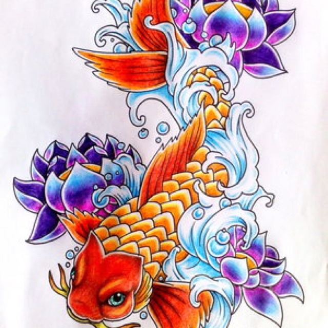 Koi and lotus tattoo idears pinterest lotus and koi for Sick koi fish