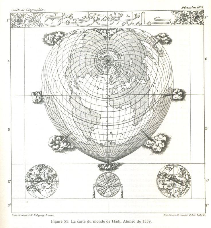 Hadji Ahmed 1559 - in Cartes des anciens rois des mers, Hapgood, ed. du Rocher 1981