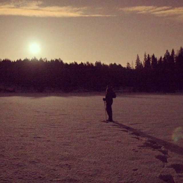 """Fullmoon walk in #Nuuksio #visitespoo #feelhelsinki #moonlight #snowshoeing #walkonthewater #feelthenaturetreks"" Photo taken by @feelthenaturetreks on Instagram, pinned via the InstaPin iOS App! http://www.instapinapp.com (02/08/2015)"
