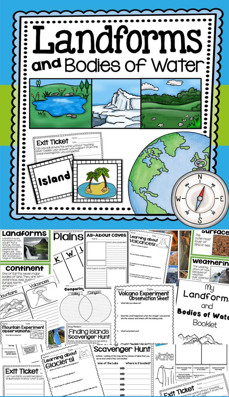 The 25 Best Landforms Worksheet Ideas