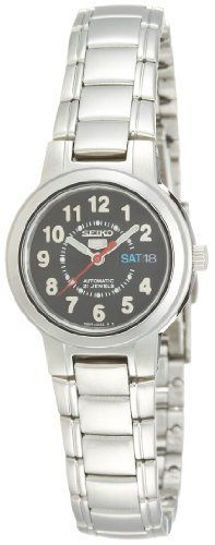 Stainless Steel Seiko 5 Automatic Dress Arabic Black Dial Seiko. Save 29 Off!. $106.81