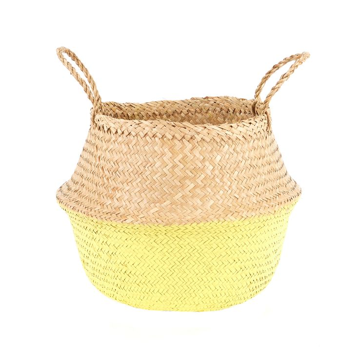 Yellow Dipped Belly Basket -M