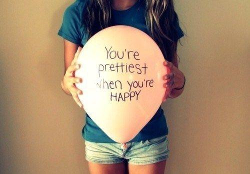 Prettiest when happy