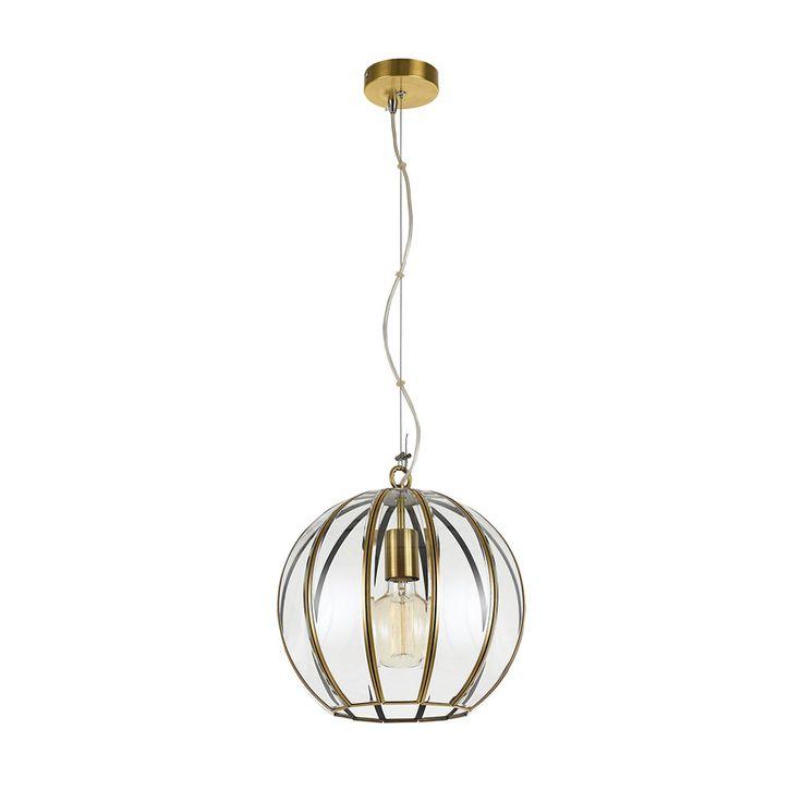 Medina 30 Pendant Antique Brass – Bright Lighting