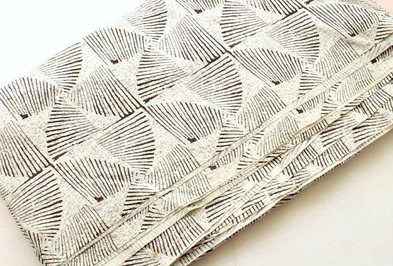 Stripe fabric Geometric block print cotton fabric Indian