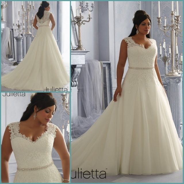 Best Selling A line Plus Size Wedding Dress 2014 Vestido de noiva Beaded Belt  Lace Applique Romantic Sexy Crost Bridal Gown