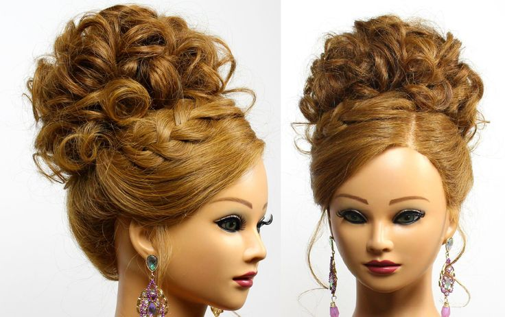 Bridal Prom Updo Hairstyle For Long Medium Hair Braids Womanbeauty1 And Russian Braids