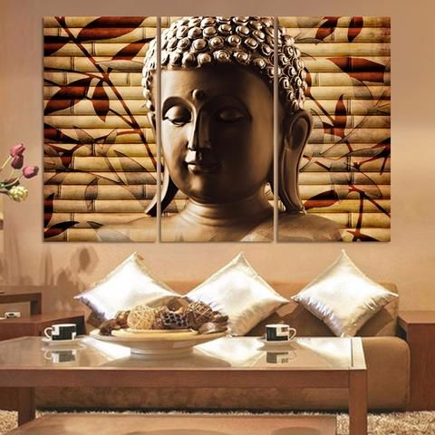 Classical buddha painting solemn buddhism wall canvas art asian religion ancient picture for house decoration no framechina mainland