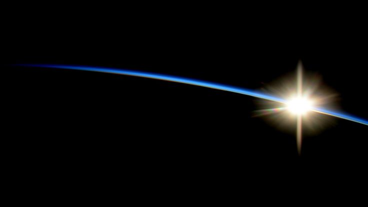 """Sunrise From the International Space Station  Wiseman wrote, """"Not every day is easy. Today was a tough one."""" Wiseman was referring to the loss on Oct. 28 of the Orbital Sciences Corporation Antares rocket and Cygnus spacecraft, moments after launch at NASA's Wallops Flight Facility in Virginia."""